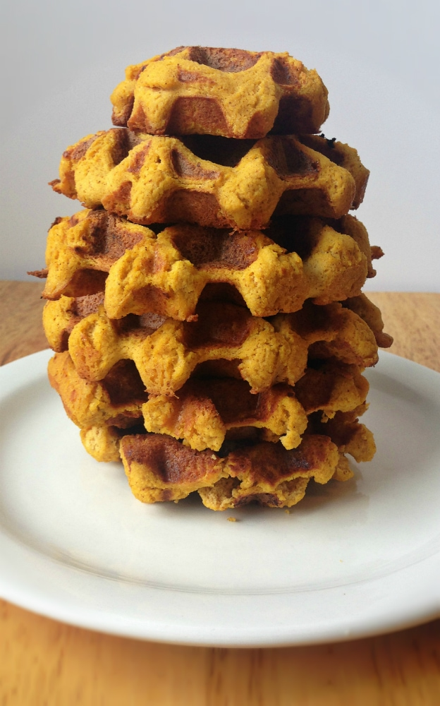 Gluten-free Pumpkin Waffles Recipe. Great for breakfast and brunch!