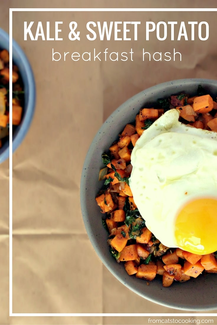 Kale and Sweet Potato Breakfast Hash - Gluten free, Grain free, Dairy free, Vegetarian, Paleo