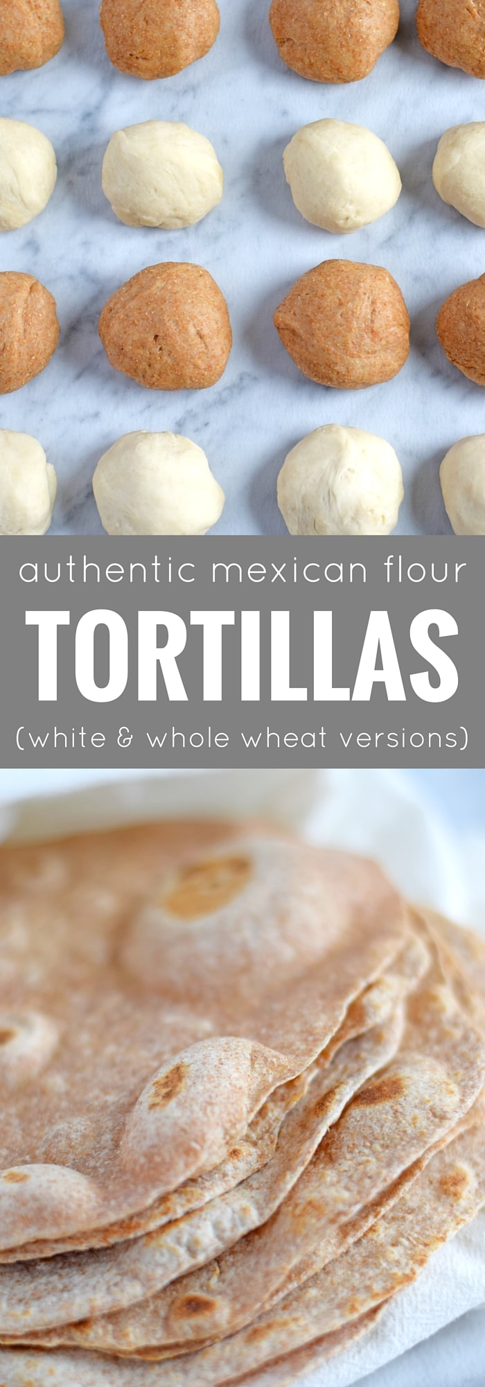 These Authentic Mexican Flour Tortillas are extremely versatile, made with 4 ingredients, dairy free and vegetarian friendly. They are way better than store-bought and can be used to make burritos, wraps, quesadillas, tacos and more! - isabeleats.com