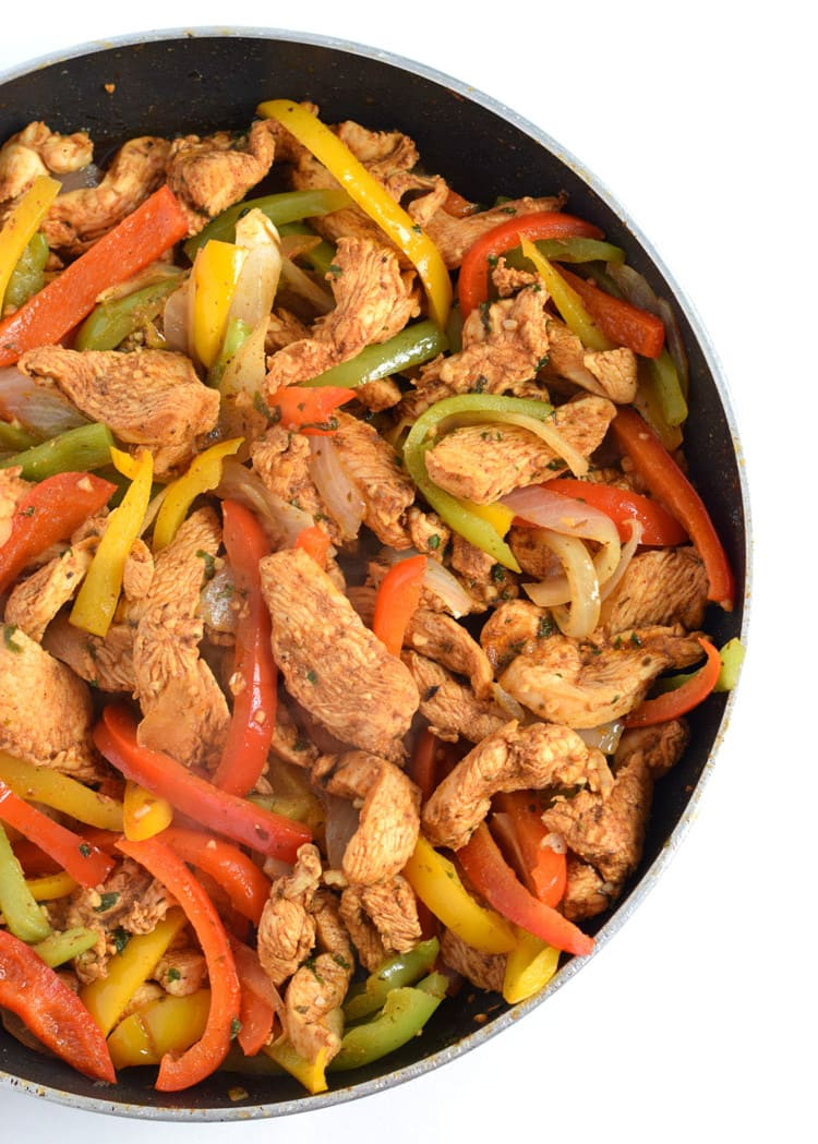 30 minute mexican lime chicken fajitas easy guacamole isabel eats make these mexican lime chicken fajitas in only 30 minutes and this forumfinder Images