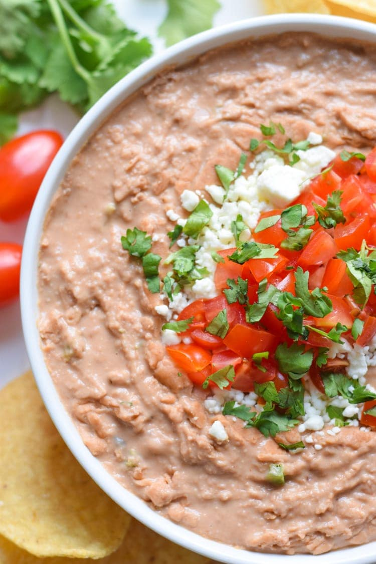 The best creamy jalapeo bean dip isabel eats mixed with diced jalapeos and mexican spices like cumin and oregano this creamy jalapeno bean save for this recipe forumfinder Gallery