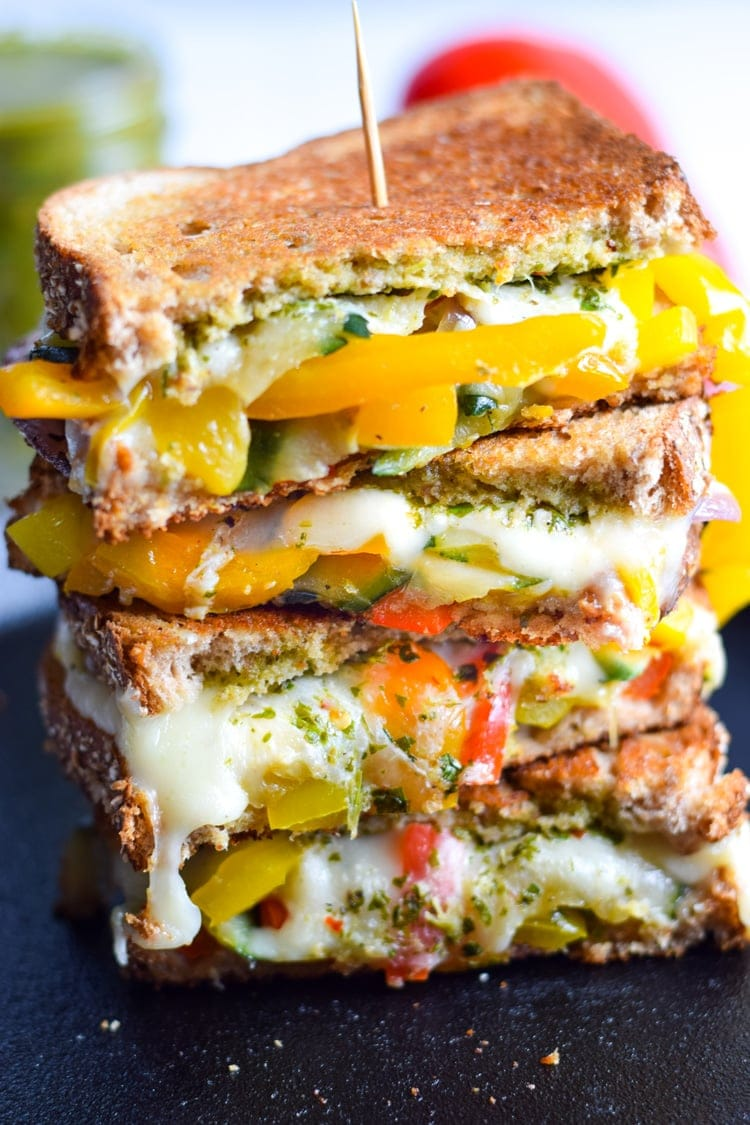 Mexican Fajita Grilled Cheese - Isabel Eats