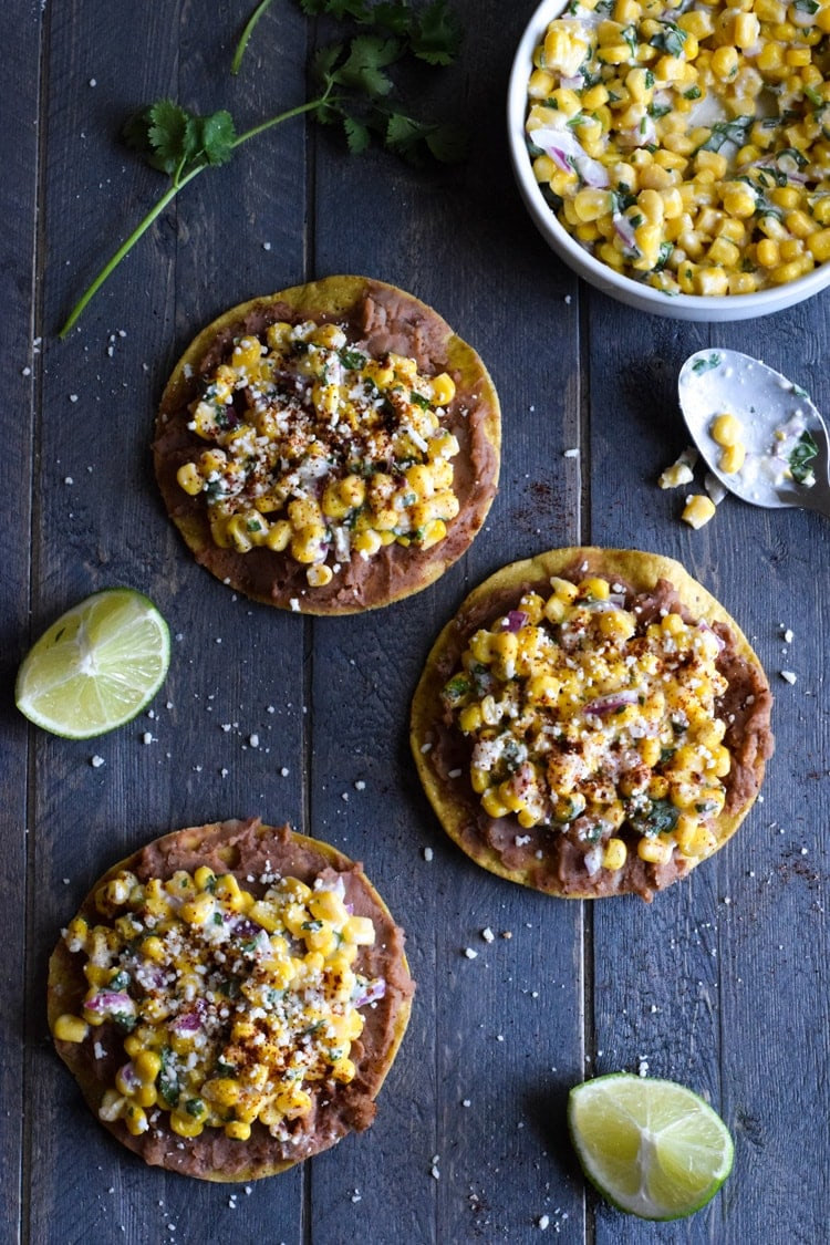 Mexican street corn tostadas isabel eats ready in only 15 minutes these mexican street corn tostadas made with canned corn forumfinder Gallery